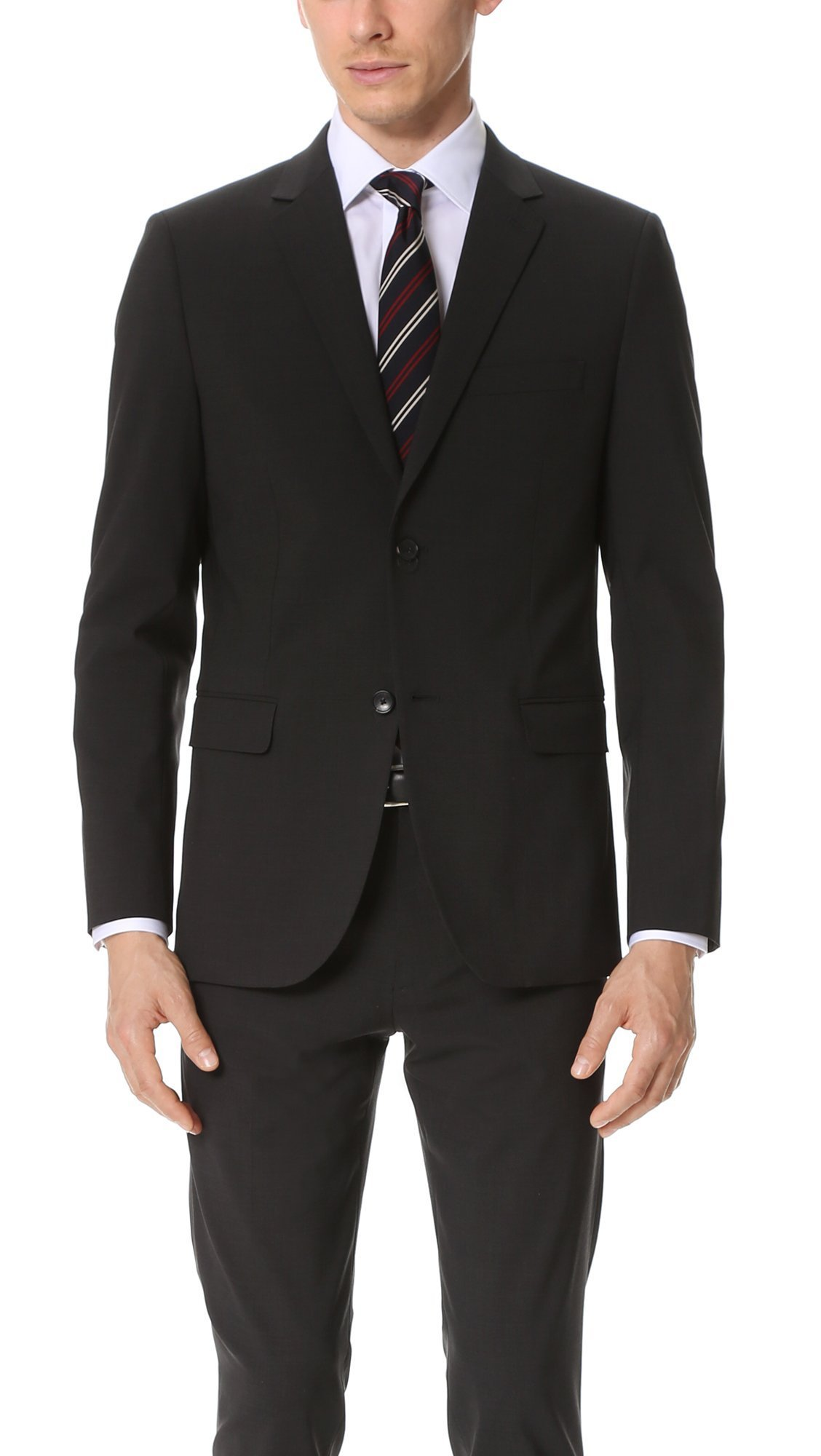 Theory Men's Wellar New Tailor Suit Jacket, Dark Charcoal, 40