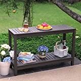 Cambridge-Casual 225350 Alfresco Console Table, Grey