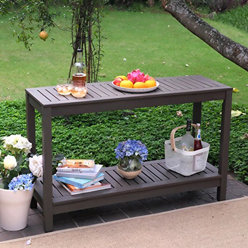 Cambridge-Casual 225350 Alfresco Console Table, Grey (Console Patio Table)
