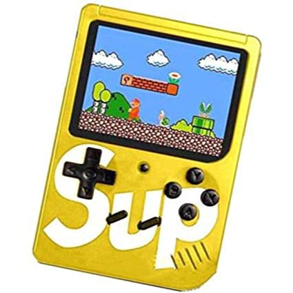 Lucria Sup Game400 in 1 Super Handheld Game Console, Classic Retro Video Game, Colourful LCD Screen, Portable, Best for Kids by Lucria (Yellow)