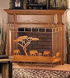 VERDUGO GIFT CO Wild Savannah Fireplace Screen by VERDUGO GIFT CO