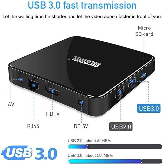 YPSMLYY KM3 ATV AndroidTV 9.0 TV Box/Control Remoto por Voz / DDR4 / 4GB 64GB Amlogic S905X2 Reproductor Multimedia Certificado por Google / 2.4G Y 5G Soporte WiFi: Amazon.es: Hogar
