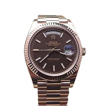 54d48d2b68e Amazon.com: Rolex Day-date 40mm Chocolate Diagonal Motif Dial Rose ...