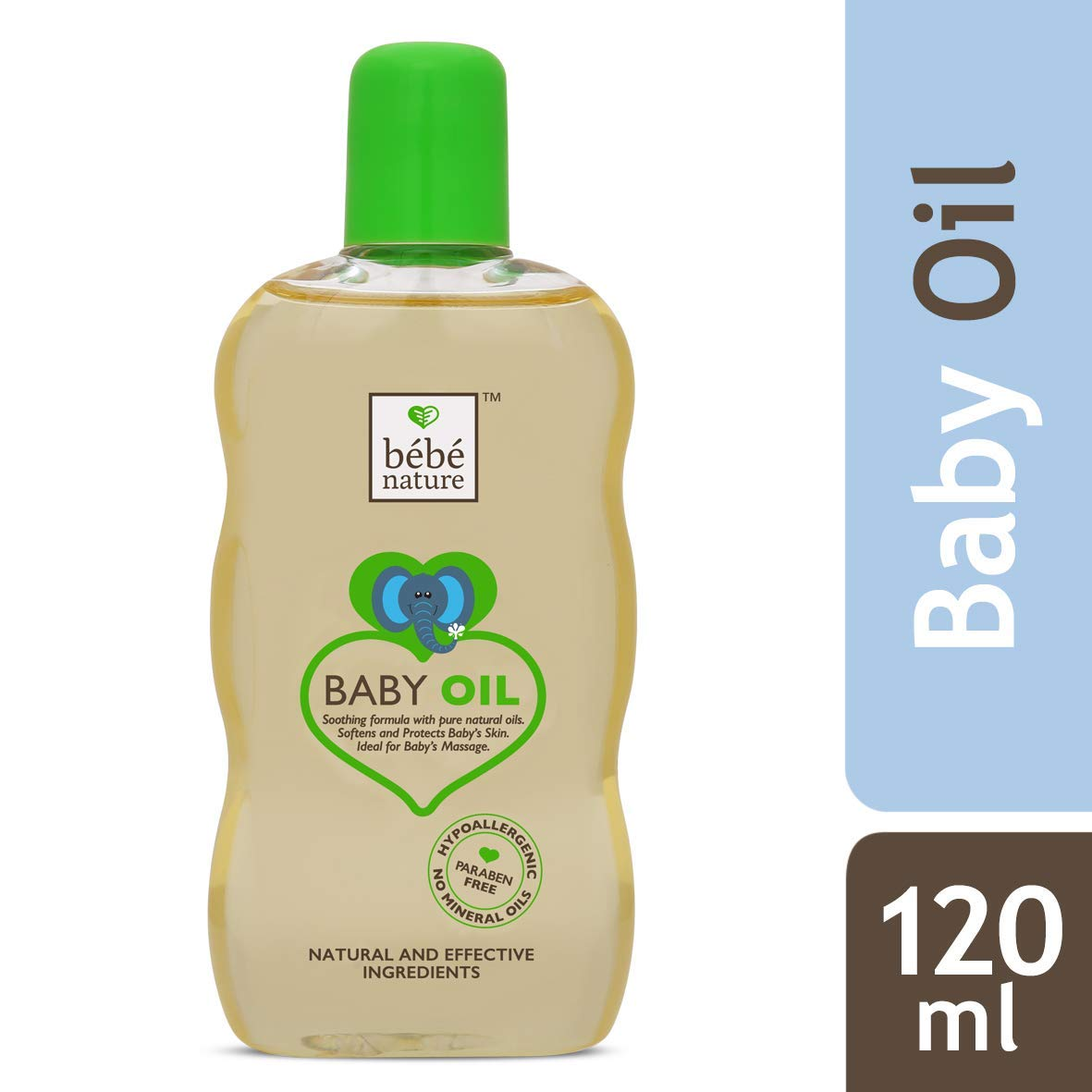 Bébé Nature Natural Baby Massage Oil with Sweet Almond Oil & Natural Vitamin E (120ml) by Bébé Nature