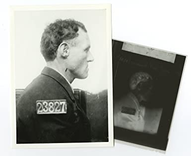 Early-mid 20th Century Vintage Prison Mugshot Photograph printed Later
