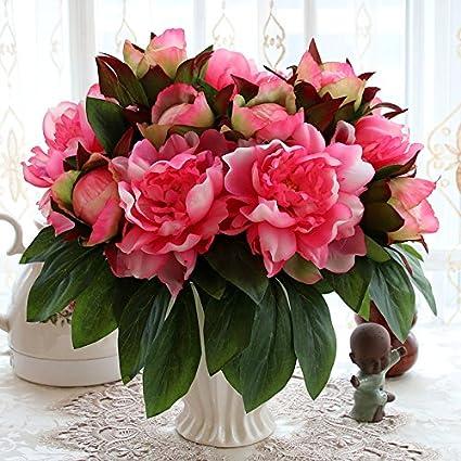 T Continental emulación rosa Artificial flores adornos Sala de estar mesa de comedor,