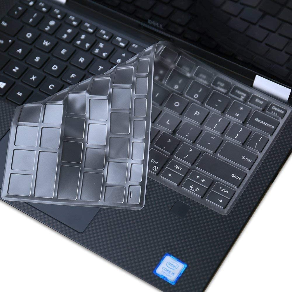 """for Dell XPS 13 7390 Keyboard Cover, Ultra Thin Keyboard Cover Skin for 13.3"""" New Dell XPS 13 7390 Standard Laptop & Dell XPS 13 9380 9370 9365 13.3"""" Laptop Keyboard Cover (NOT for 2-in-1 7390), TPU"""