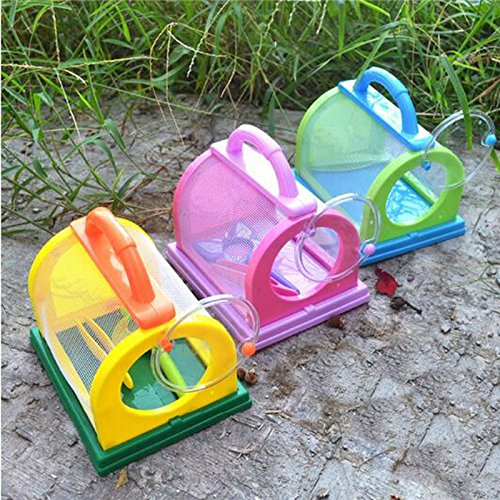 Kids/Children Bug Insect Feeding House Cage with Magnifier & Tweezer Kit (Bug House Kit)