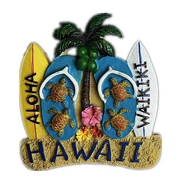 Weekinglo Souvenir Tabla de Surf Hawaii America EE. UU. Imán de ...