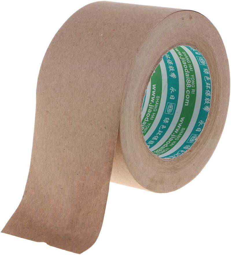 Suministros De S/úper Sellado 1 Rollo De Cinta De Papel Kraft Gomado Reforzado Comercial para Embalaje De Cajas Y Cinta Goma Sellada 36mm 50M
