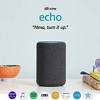 Amazon All-new Echo (3rd Gen) Smart Speaker with Alexa (Charcoal)