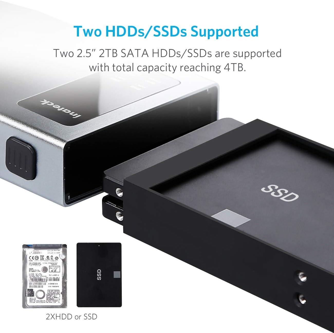 Inateck Carcasa Box Externa en Aluminio para Discos Duros USB-C ...