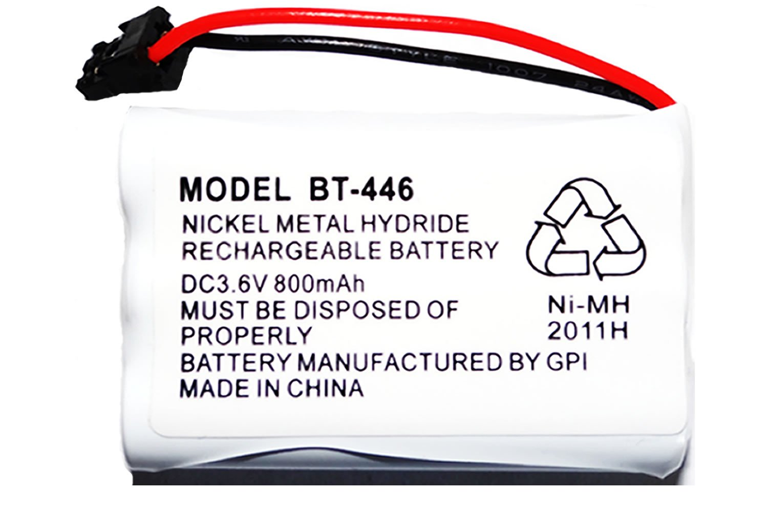 Amazon.com: Rechargeable Replacement Bt-446 Battery for Uniden Cordless  Phone DC 3.6V 800 mAh: Office Products