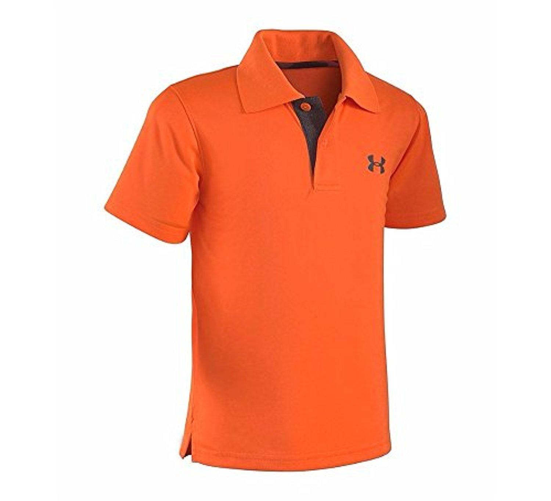 Under Armour Little Boys' Ua Logo Short Sleeve Polo, Traffic Cone Orange, 7