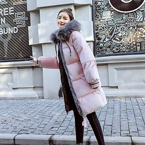 Xxl Donna Dimensione Imbottita Cotone Da Con Imbottito Cappotto Donna colore Cappuccio Invernale Rosa Per Giacca In Zhrui wtZagqx