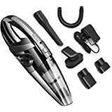 Handheld Vacuum, 120W Cordless Wet and Dry Dual Use Lightweight Portable Vacuum Cleaner with HEPA Filter, Quick Charge Tech, Powerful Cyclone Suction for Home Pet Hair, Car Cleaning
