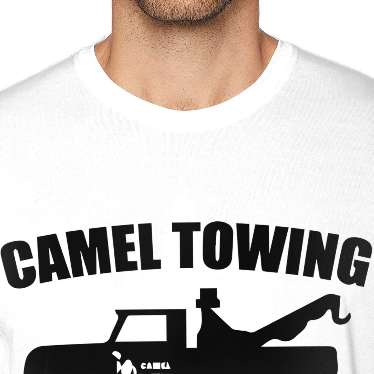 MSKKLA Camel Towing Rude Graphic T-Shirt Adult Summer Short-Sleeve T-Shirts T-Shirt Plus Size