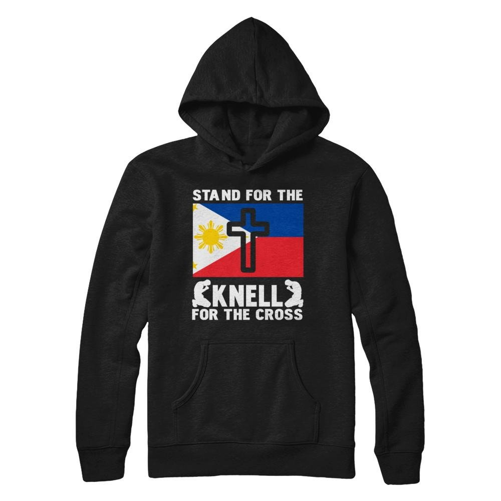 Pullover Hoodie Teely Shop Womens Patriotic ST The Filipino Flag Kneel The Cross Gildan