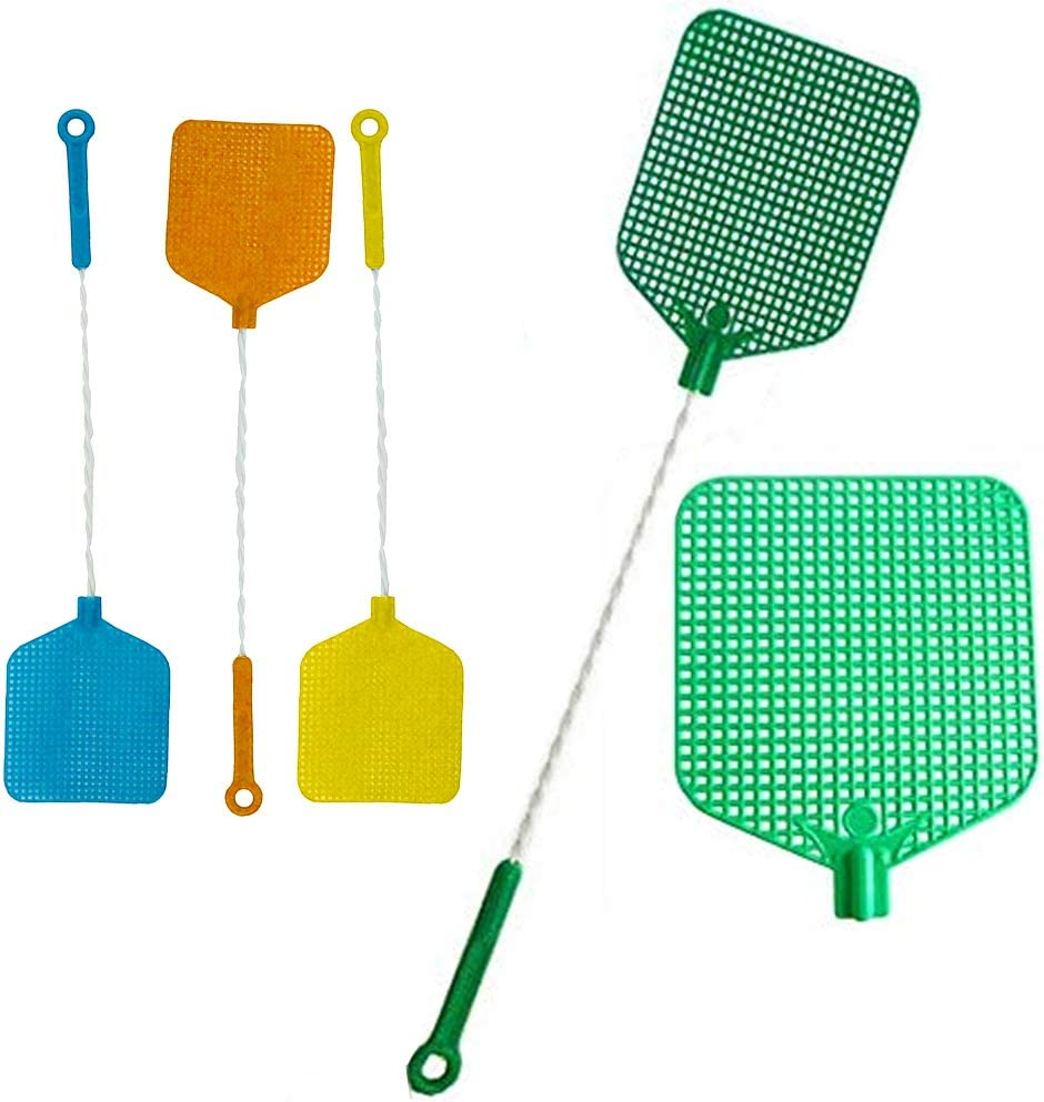 4 Pc Hand Fly Swatter Bug Mosquito Insect Wasps Killer Catcher Swat Zapper New