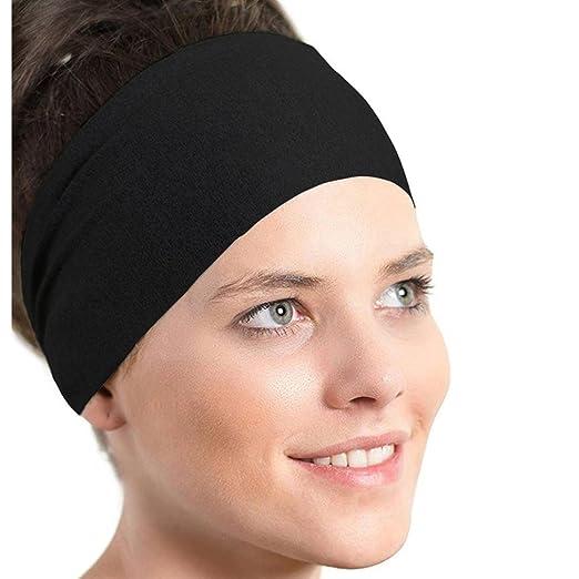 51430834b Owill Women Ladies Pure Color Sports Yoga Sweatband Gym Stretch Headband  Washing Face Hair Band (