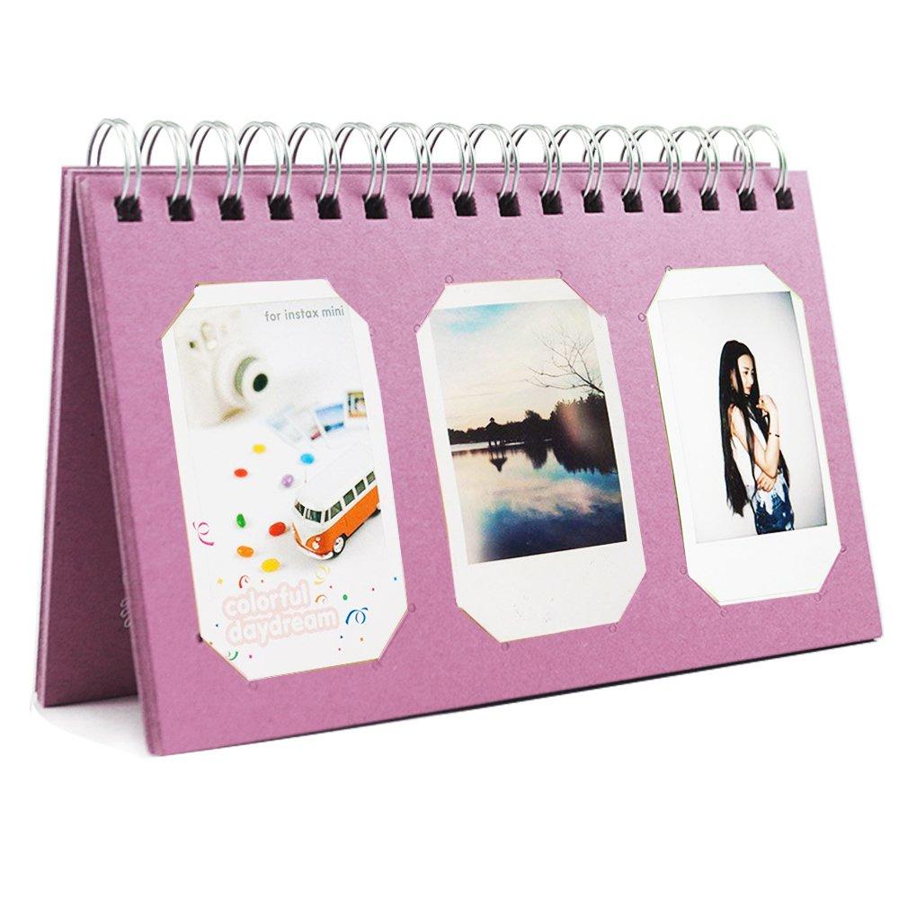 Katia 60 Pockets Crab Photo Album for Polaroid Fujifilm Instax Mini 8/8+/ 9/70/ 90/ 7s/Pringo 231/ SP 1/Polaroid PIC-300P/Polaroid Z2300 Film (Blue)