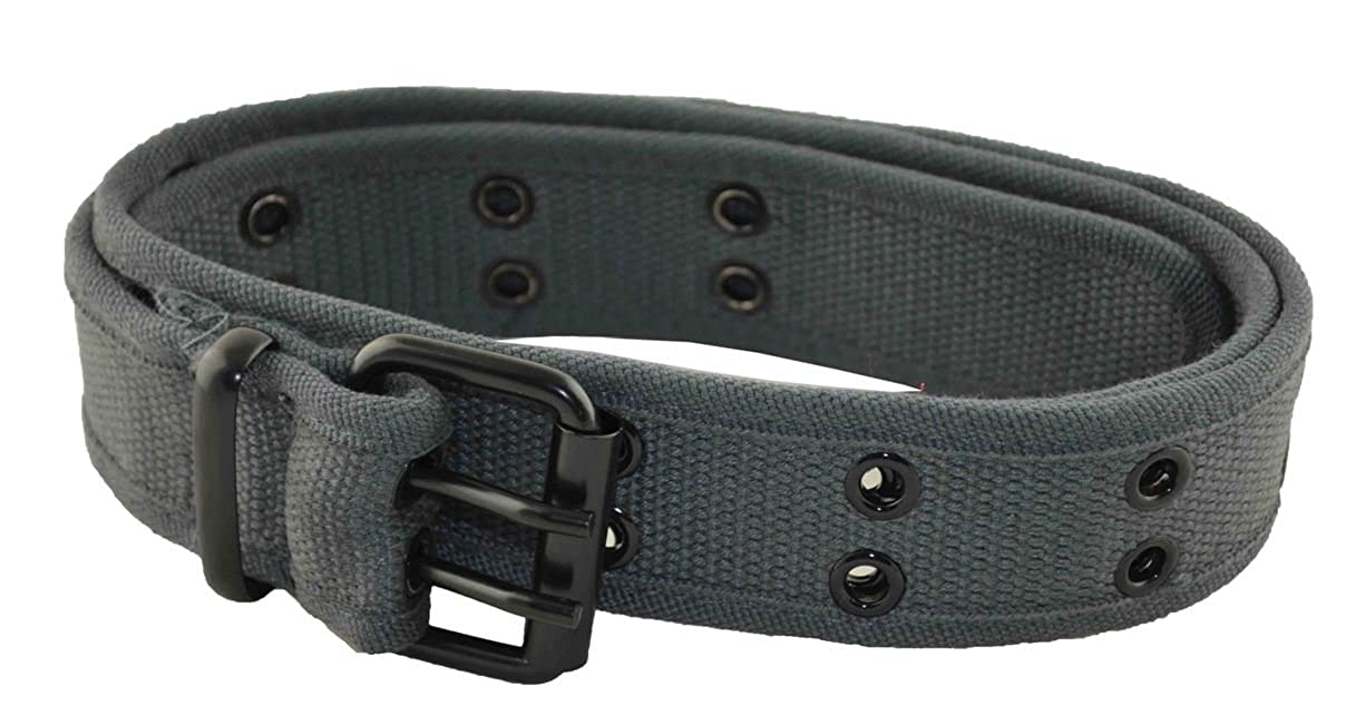 MM Mens Cotton Military Style Belt Charcoal Gray