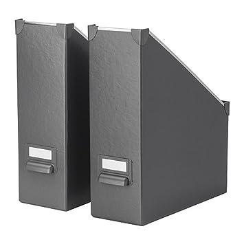 Ikea Fjalla revistero archivador gris oscuro 2 unidades: Amazon.es: Hogar