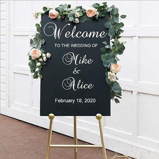 Etiqueta de la boda Cartel Decoración de la boda Bienvenido ...