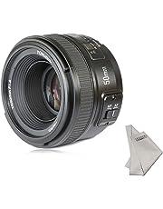 Yongnuo yn50mm F/1.8AF Lens Auto Focus de Apertura para Nikon D800D300D300S D700D600, D5000D5100D5200D5300D5500D3100D3200etc. + inseesi paño Limpio