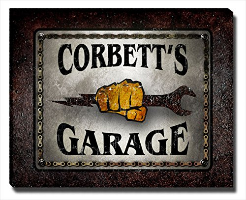 Corbett Garage Gallery Wrapped Canvas Print