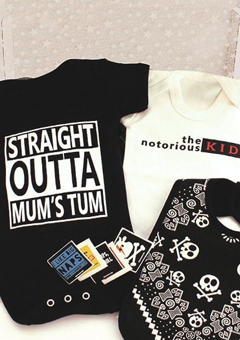 Hip Hop bebé caja de regalo/Straight Outta Compton/Notorious Big inspirado Trendy juego