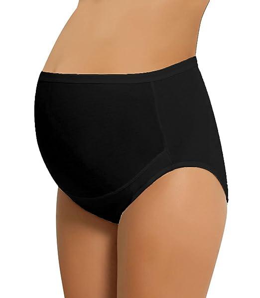 NBB Mujer premamá Slip Embarazo Slip Ropa Interior algodón Negro Large