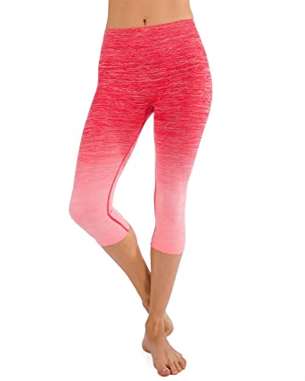 c8a7168393 Homma Women's Premium Quality Active Workout Cropped Yoga Leggings Running  Pants (Small, B.