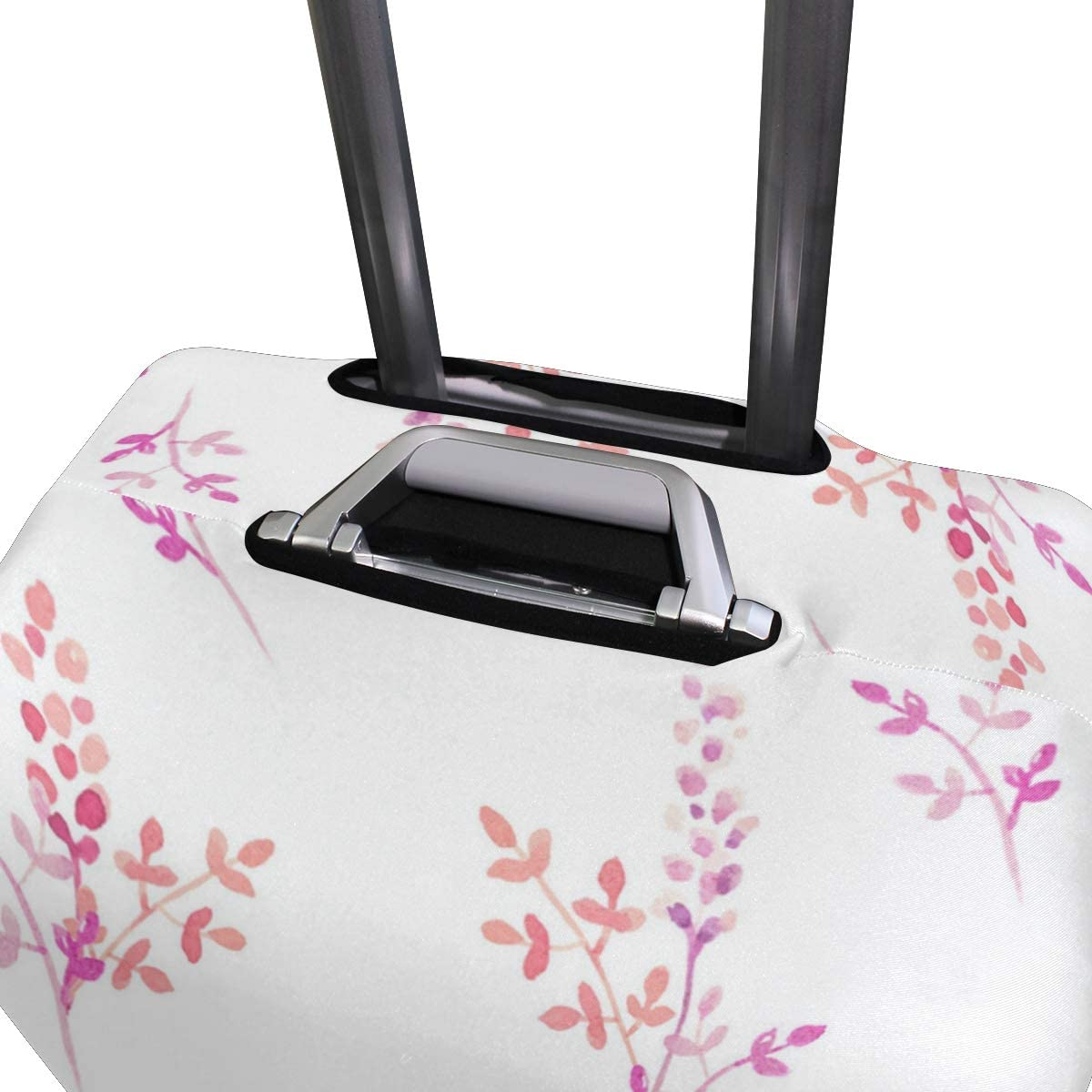 Aesthetic Pink Small Flower Traveler Lightweight Rotating Luggage Protector Case Can Carry With You Can Expand Travel Bag Trolley Rolling Luggage Protector Case