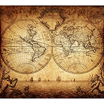 Amazon vintage old world map poster print art 1733 nautical vintage old world map poster print art 1733 nautical sailing ship map home wall decor gumiabroncs Image collections