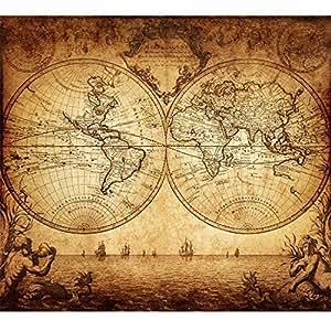d5c6a7adb8e Amazon.com  Vintage Old World Map Poster Print Art 1733 Nautical ...