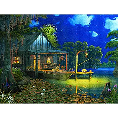 Bayou Moon 1000 pc Jigsaw Puzzle: Toys & Games