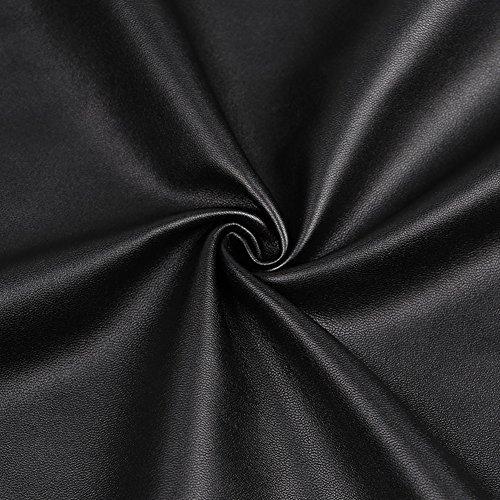 Slim Femme Crayon Mode Jupe avec Asymtrique Haute Cuir clair Club Taille Ligne Mini Courte Noir Fermeture Perles de Fit Jupe A Jupe en Fte rOxwnqrp