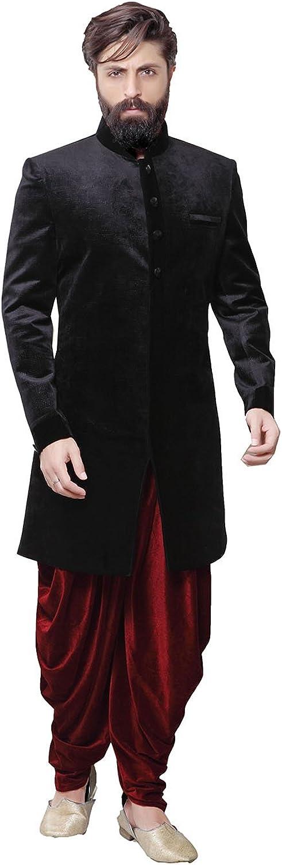 Da Facioun Indian Designer Partywear Ethnic Color Fancy Fabric Mens Indo Western