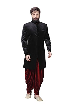 955a5d47085 Amazon.com  Readymade Indian Wedding Sherwani Set for Men Marriage Party wear  Outfit Ethnic Traditional Dress  Clothing