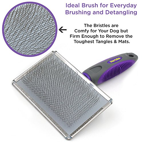 Hertzko Slicker Brush for Dogs and Cats Pet Grooming Dematting Brush Easily Removes Mats, Tangles, and Loose Fur from The Pet's Coat