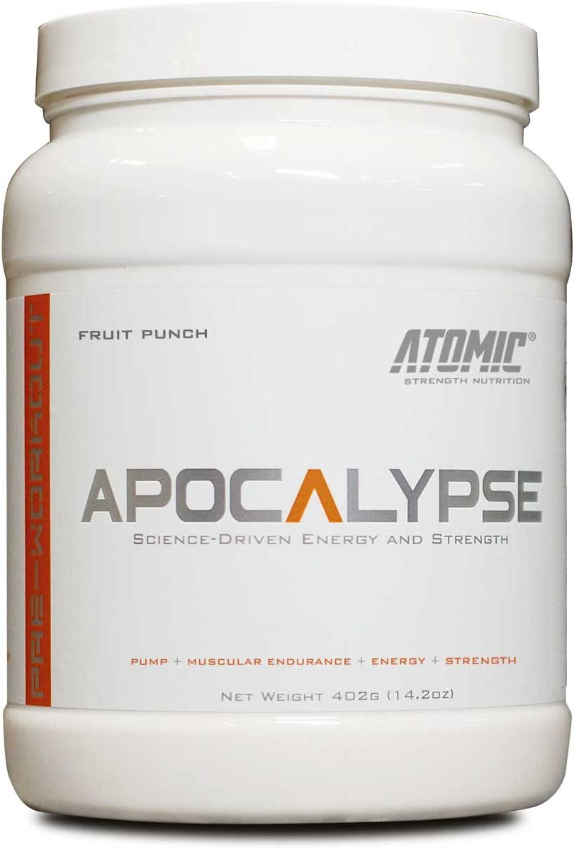 Apocalypse Pre-Workout by Atomic Strength Nutrition Science Driven Energy, Pump and Strength – Fruit Punch Flavor