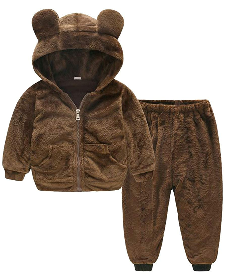 Sweatwater Boys and Girls Casual Fleece Hooded Sweatshirt Pants Outfit Sets