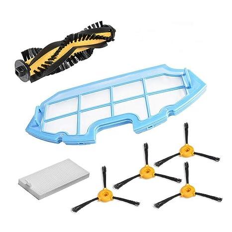 Timi-Kit de Accesorios de Limpieza para Robots aspiradores Conga Excellence: 4 cepillos Laterales
