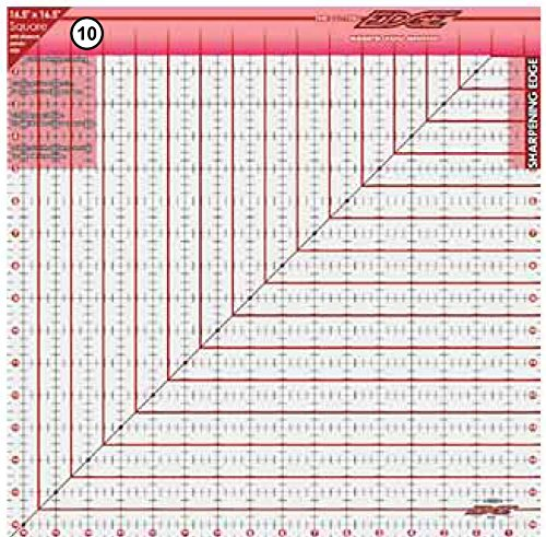 Sullivans 16-1/2-Inch-by-16-1/2-Inch The Cutting Edge Frosted Ruler 38188