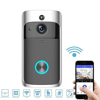 47bfba8d1976 WiFi Smart Video Doorbell, SURUN Smart Home Wireless Doorbell 720P HD  Security Camera with 166