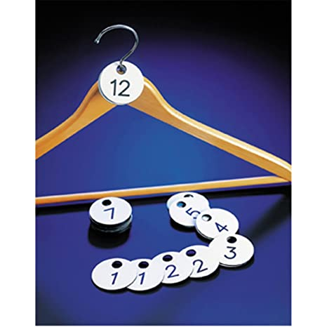 Numeri Per Guardaroba.Garcia De Pou Numeri Guardaroba Doppi 1 100 O 4 5 Cm Bianco