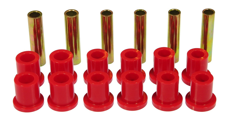 Prothane 6-1004 Red Rear Spring Eye and Shackle Bushing Kit