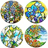 Henry the Buttonsmith Louis Comfort Tiffany Refrigerator Magnet Set, 1.25-inch