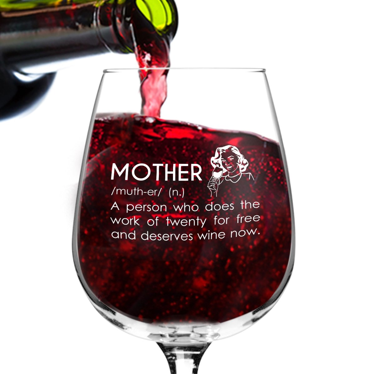Mother Definition Funny Wine Glass Gifts For Women Premium Birthday Gift Her Mom